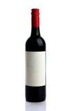 Rode wijnfles Stock Foto's