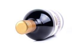 Rode wijnfles Stock Fotografie