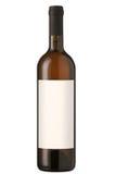 Rode wijnfles met leeg etiket. Royalty-vrije Stock Foto's