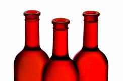 Rode wijnflessen Royalty-vrije Stock Foto