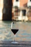 Rode wijnglas Royalty-vrije Stock Foto