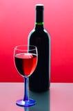 Rode wijnglas Royalty-vrije Stock Foto's