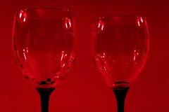 Rode wijnglazen Stock Afbeeldingen