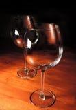 Rode wijnglazen Royalty-vrije Stock Foto's