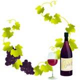 Rode wijnkader Royalty-vrije Stock Afbeelding