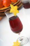 Rode wijnkoeler stock foto