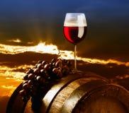 Rode wijnsamenstelling Royalty-vrije Stock Afbeeldingen