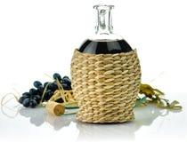 Rode wijnsamenstelling stock afbeelding