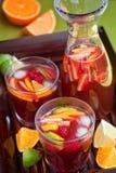 Rode wijnSangria Royalty-vrije Stock Foto's