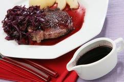 Rode wijnstoksaus Royalty-vrije Stock Afbeelding