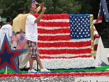 Rode Wit en Blauw bij de Parade royalty-vrije stock afbeelding