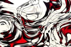 Rode Witte Abstracte Achtergrond stock illustratie