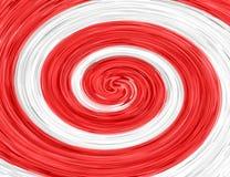 Rode Witte abstracte spiraal Stock Foto's