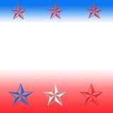 Rode witte blauwe sterren Vector Illustratie