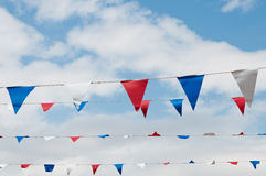 Rode witte en blauwe bunting Stock Afbeeldingen