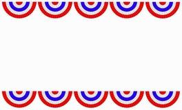 Rode witte en blauwe bunting grens Stock Afbeelding