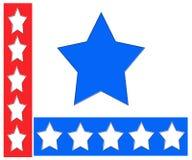 Rode, witte en blauwe sterren Royalty-vrije Stock Afbeeldingen