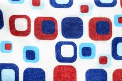 Rode witte en blauwe vierkanten Royalty-vrije Stock Foto