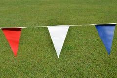 Rode Witte en Blauwe Vlaggen Stock Foto's