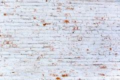 Rode witte muurachtergrond Uitstekende Muur met Gepeld Pleister stock foto