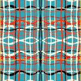 Rode witte oranje en zwarte lijnen vectorillustratie Royalty-vrije Stock Foto's