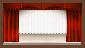 Rode & Witte stadiumdalingen Royalty-vrije Stock Afbeeldingen