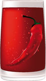 Rode wodka met peper Royalty-vrije Stock Foto's