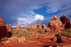 Rode Woestijn royalty-vrije stock afbeelding