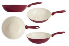 De wok van de pan Royalty-vrije Stock Afbeeldingen