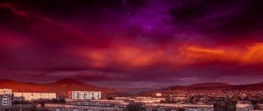 Rode wolken Stock Foto