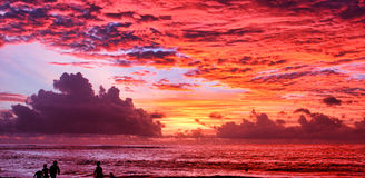 Rode wolken Royalty-vrije Stock Foto's