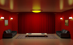 Rode woonkamer Royalty-vrije Stock Fotografie