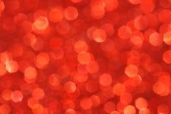 Rode zachte lichten abstracte achtergrond Royalty-vrije Stock Afbeeldingen