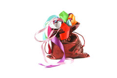 Rode zak Royalty-vrije Stock Foto's