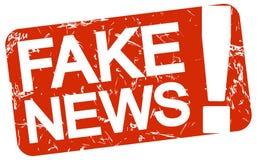 rode zegel met tekst Vals Nieuws vector illustratie