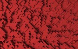 Rode zeshoekenachtergrond Royalty-vrije Stock Foto