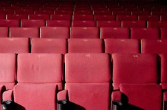 Rode zetels Stock Fotografie