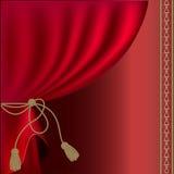 Rode zijde royalty-vrije illustratie