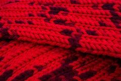 Rode zijde prom Ik breide een kruisend patroon Royalty-vrije Stock Foto