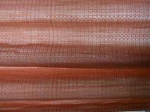 Rode zijdegordijnen Stock Afbeelding
