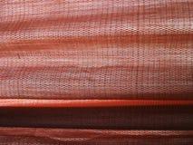 Rode zijdegordijnen Stock Afbeeldingen