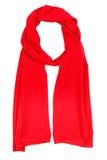 Rode Zijdesjaal Stock Afbeelding