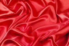 Rode zijdestof Stock Afbeeldingen