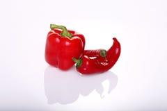Rode Zoete en Hete Spaanse peperpeper Royalty-vrije Stock Foto's