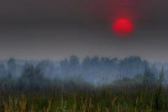 Rode zon van Rusland stock foto