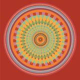 Rode zonnebloemmandala. illustratie Stock Afbeelding