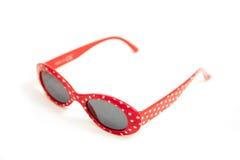 Rode zonnebril Royalty-vrije Stock Afbeeldingen