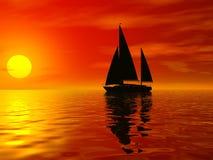 Rode zonsondergang Royalty-vrije Stock Afbeeldingen