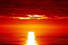 Rode zonsondergang Royalty-vrije Stock Foto