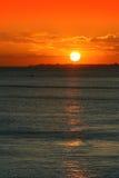 Rode zonsondergang Stock Afbeeldingen